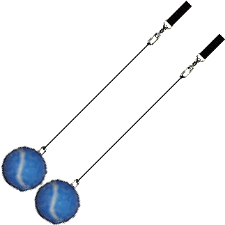 Practice-Poi-Blue-Tennis-Ball-with-Black-Double-Handle
