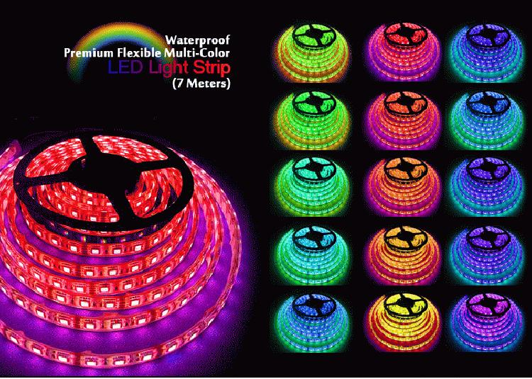 Firetoys 7m indoor outdoor led strip light multi colour 7m indoor outdoor led strip light multi colour mozeypictures Images